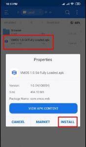 VMOS 1.0.54 camera
