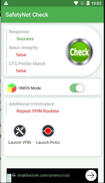 VMOS Down Not Compatible With Pokemon GO (06-03-2020)