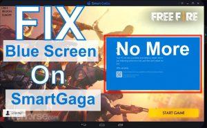 SmartGaGa Blue Screen Fix