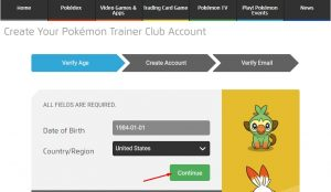 how to create pokemon trainer club ptc account