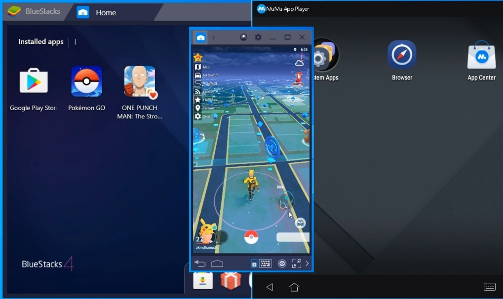 android emulator for pokemon go