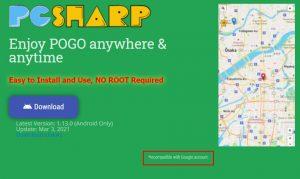 pgsharp google login